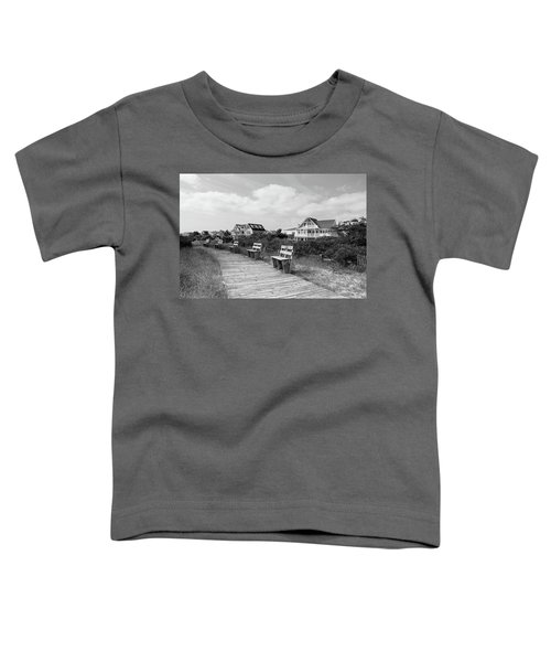 Walk Through The Dunes In Black And White Toddler T-Shirt