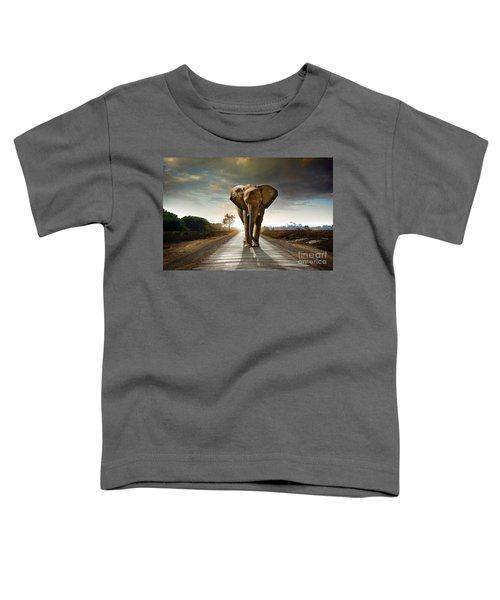 Walking Elephant Toddler T-Shirt