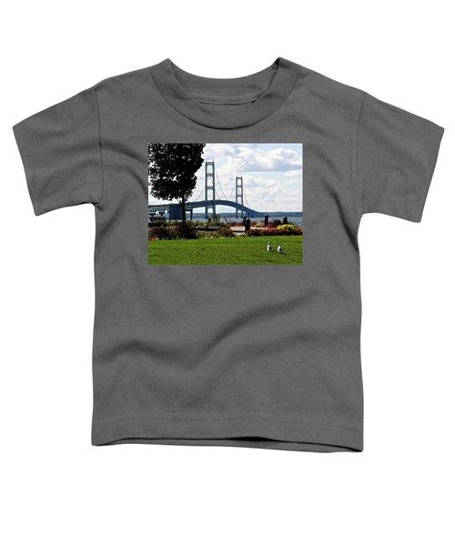Walking To The Bridge Toddler T-Shirt