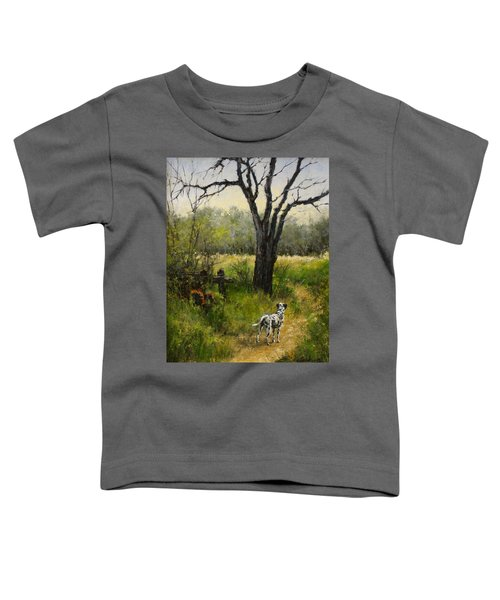 Walking With My Farley Toddler T-Shirt