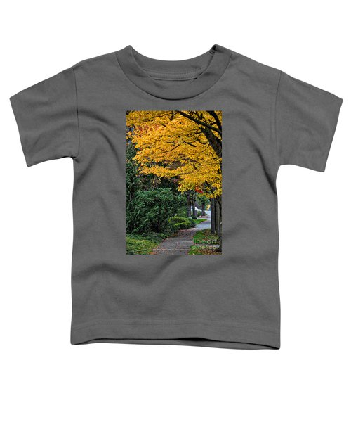 Walkway Under A Canopy Of Yellow Toddler T-Shirt