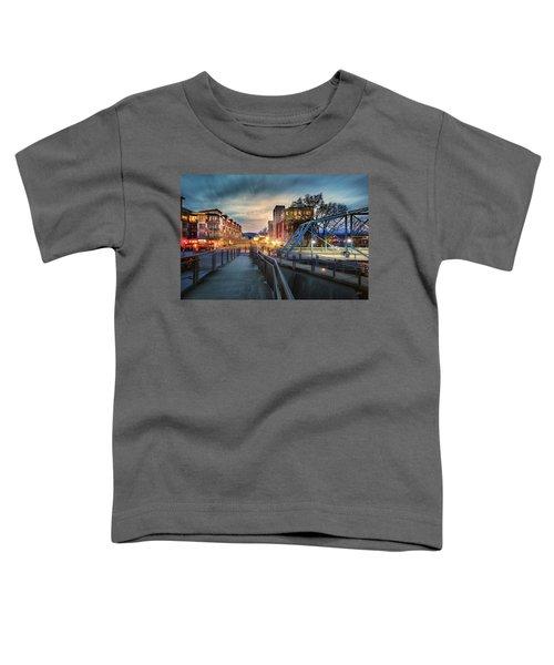 Walnut Street Circle Sunset Toddler T-Shirt