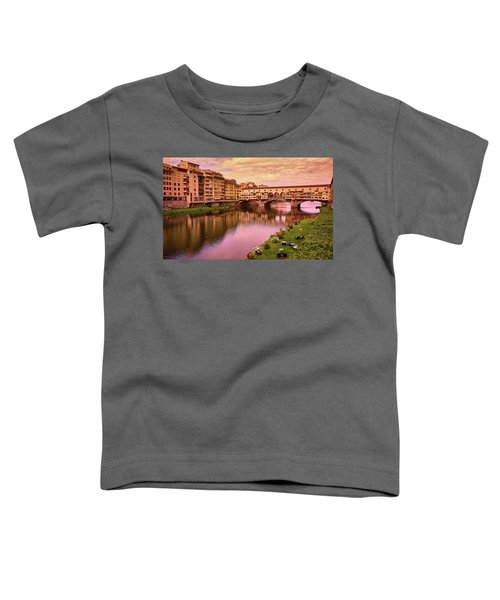 Sunset At Ponte Vecchio In Florence, Italy Toddler T-Shirt