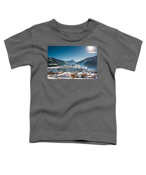 Warm Winter Day In Kirchberg Town Of Austria Toddler T-Shirt