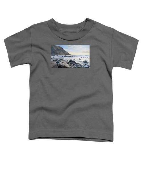 Toddler T-Shirt featuring the painting Warren Point Sunset Duckpool by Lawrence Dyer
