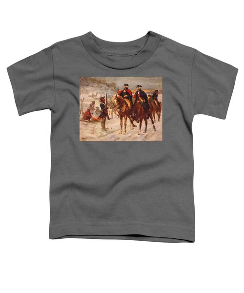 Washington And Lafayette At Valley Forge Toddler T-Shirt