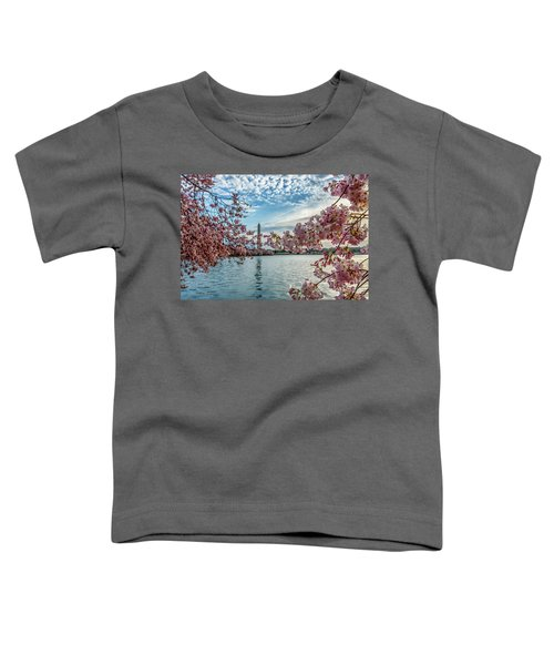 Washington Monument Through Cherry Blossoms Toddler T-Shirt
