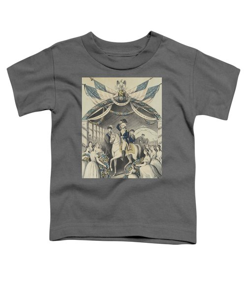 Washington's Reception By The Ladies On Passing The Bridge At Trenton Toddler T-Shirt