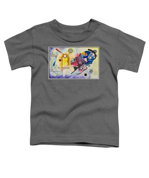 Wassily Kandinsky,jaune Rouge Bleu Toddler T-Shirt