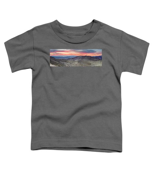 Watching The Sunrise From Dante's View - Black Mountains Death Valley National Park California Toddler T-Shirt