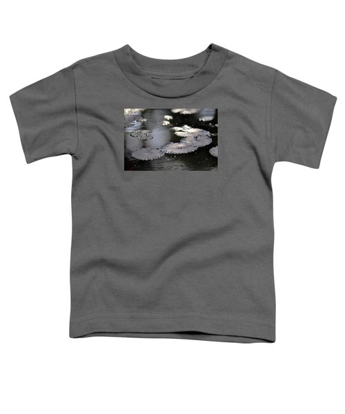 Toddler T-Shirt featuring the photograph Water And Leafs by Dubi Roman