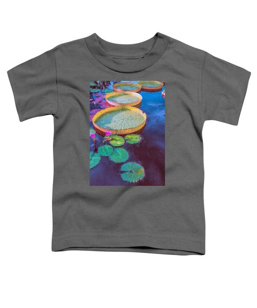 Water Lily Pattern Toddler T-Shirt