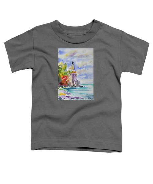 Watercolor - Autumn At Split Rock Lighthouse Toddler T-Shirt