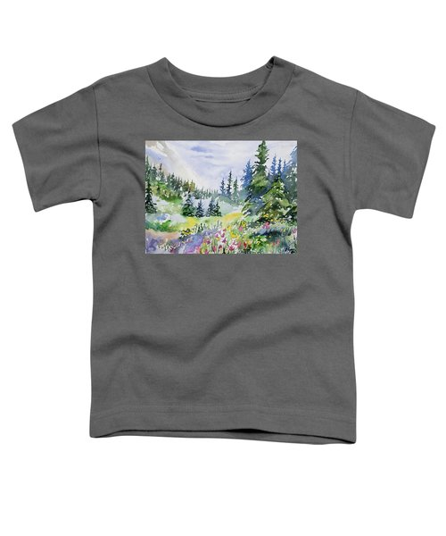 Watercolor - Colorado Summer Scene Toddler T-Shirt