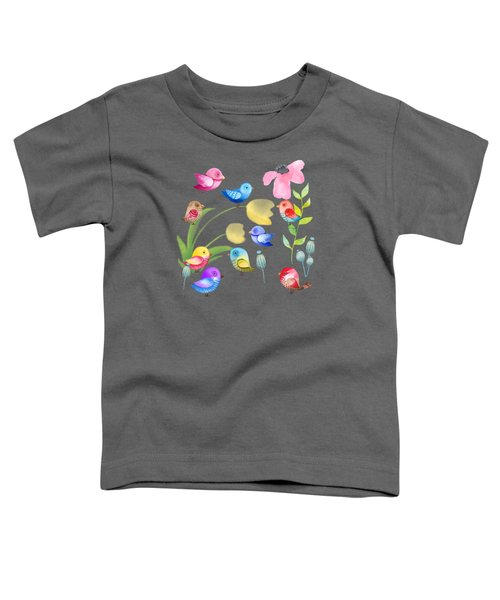Watercolor Garden Party Toddler T-Shirt