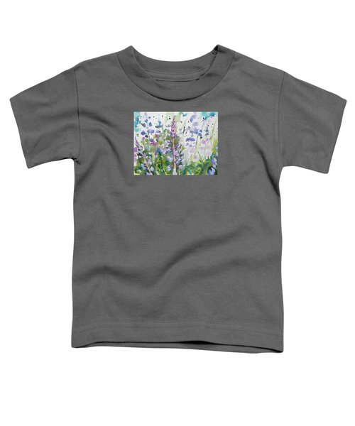 Watercolor - Lupine Wildflowers Toddler T-Shirt