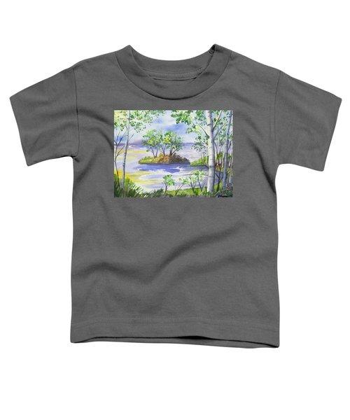 Watercolor - Minnesota North Shore Landscape Toddler T-Shirt
