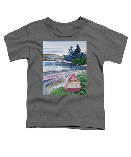 Watercolor - New Zealand Harbor Toddler T-Shirt