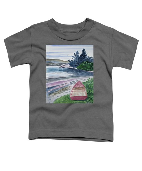 Watercolor - New Zealand Harbor Toddler T-Shirt