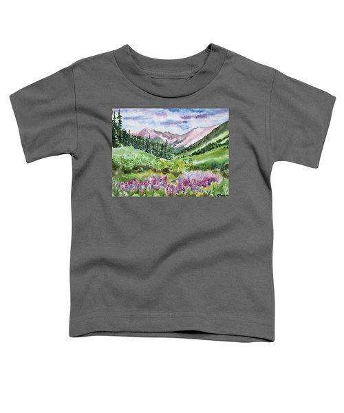 Watercolor - San Juans Mountain Landscape Toddler T-Shirt