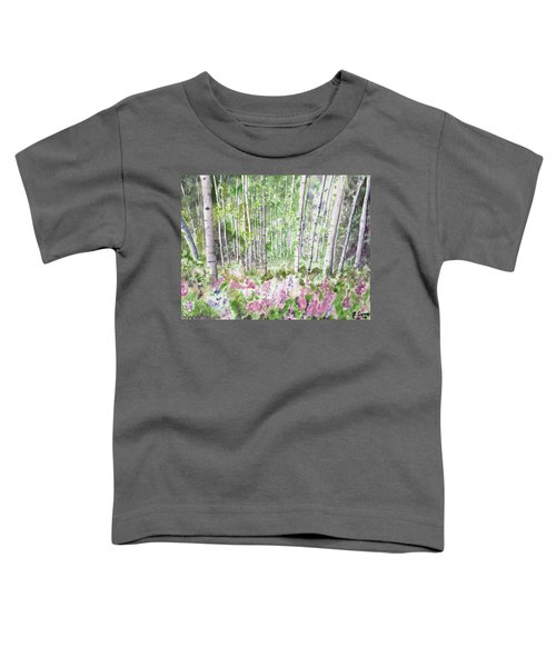 Watercolor - Summer Aspen Glade Toddler T-Shirt