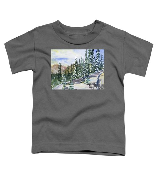 Watercolor - Winter Snow-covered Landscape Toddler T-Shirt