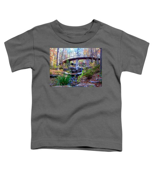 Waterfall And A Bridge In The Fall Toddler T-Shirt