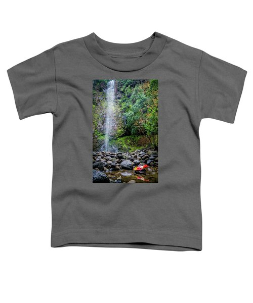 Waterfall And Flowers Toddler T-Shirt