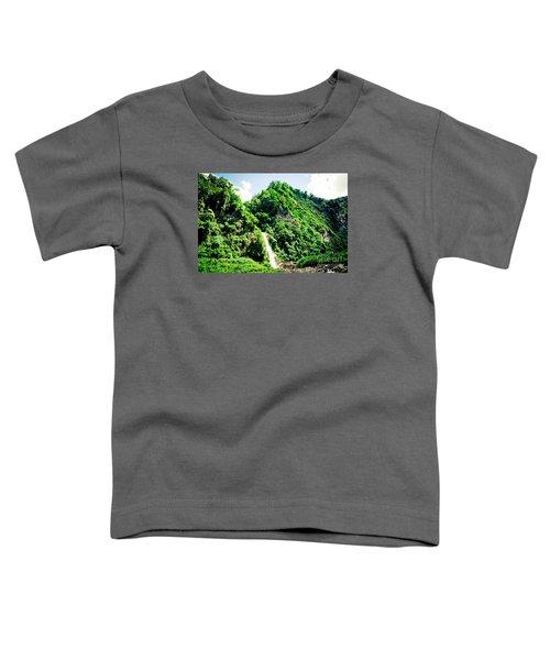 waterfall Himalayas mountains NEPAL Toddler T-Shirt