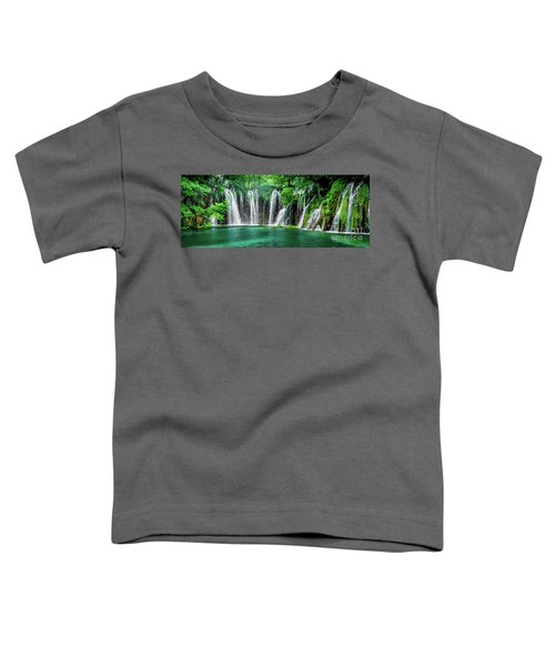 Waterfalls Panorama - Plitvice Lakes National Park Croatia Toddler T-Shirt
