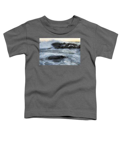 Wave Crashes Rocks 7835 Toddler T-Shirt