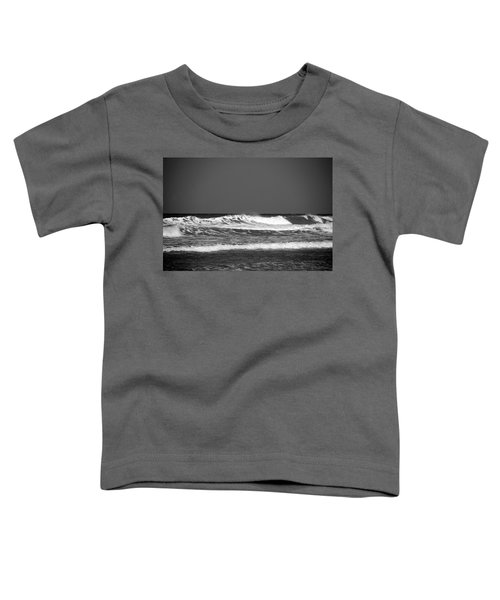 Waves 2 In Bw Toddler T-Shirt