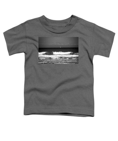 Waves 4 In Bw Toddler T-Shirt
