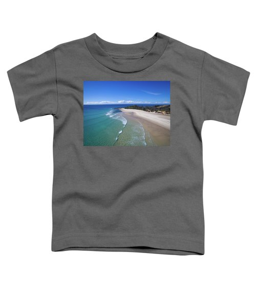 Waves Rolling In To North Point Beach On Moreton Island Toddler T-Shirt