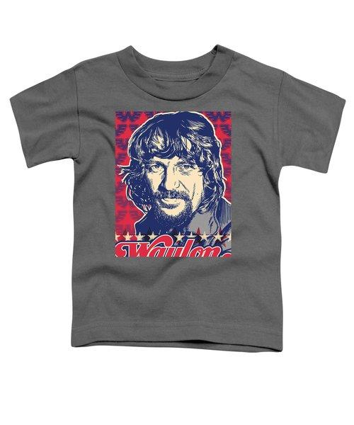 Waylon Jennings Pop Art Toddler T-Shirt