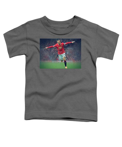 Wayne Rooney Toddler T-Shirt by Semih Yurdabak