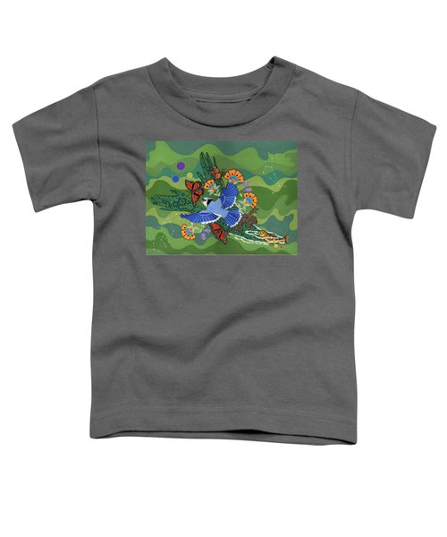 Toddler T-Shirt featuring the painting We Are One by Chholing Taha