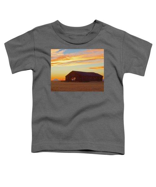 Weathered Barn Sunset Toddler T-Shirt