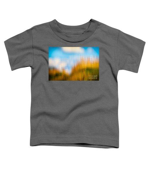 Weeds Under A Soft Blue Sky Toddler T-Shirt