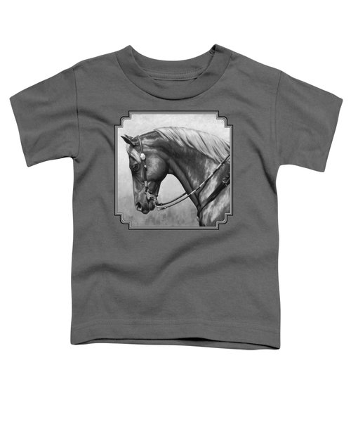 Western Horse Black And White Toddler T-Shirt
