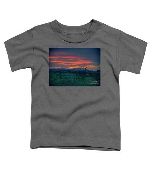Western Texas Sunset Toddler T-Shirt