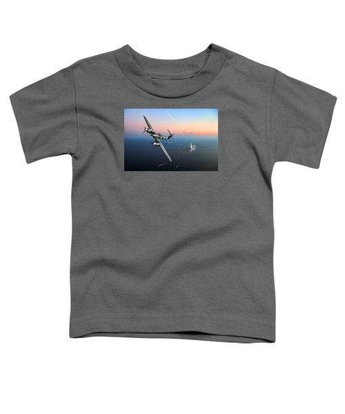 Toddler T-Shirt featuring the photograph Westland Whirlwind Attacking E-boats by Gary Eason