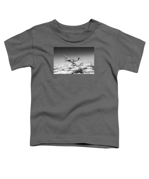 Toddler T-Shirt featuring the photograph Westland Whirlwind Portrait Black And White Version by Gary Eason