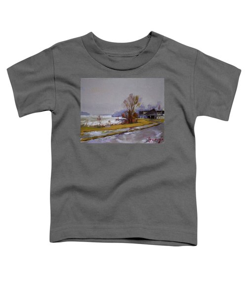 Wet And Icy At Gratwick Waterfront Park Toddler T-Shirt