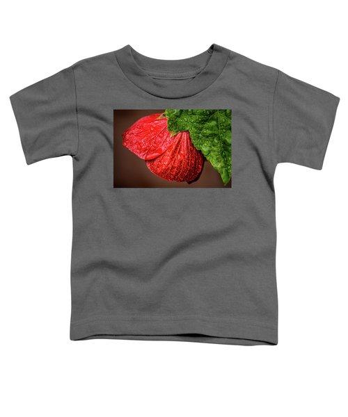 Wet Flower-abutilon Toddler T-Shirt
