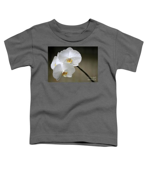 Wet White Orchids Toddler T-Shirt