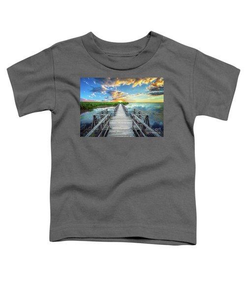 Wetland Marsh Sunrise Treasure Coast Florida Boardwalk A1 Toddler T-Shirt
