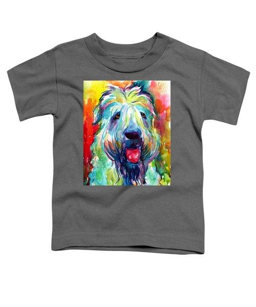 Wheaten Terrier Dog Portrait Toddler T-Shirt by Svetlana Novikova