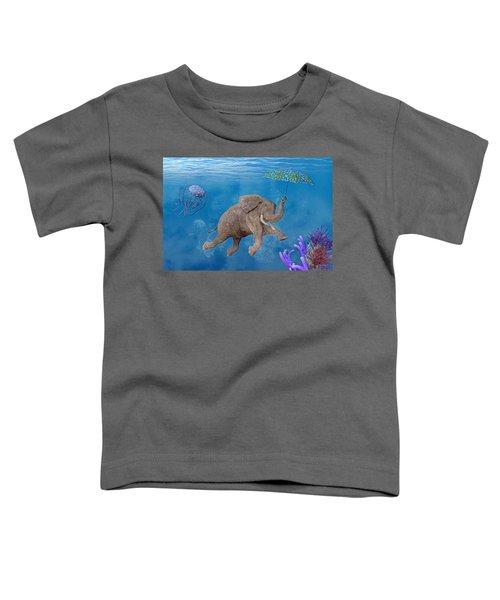 When Elephants Swim Toddler T-Shirt