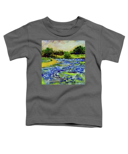 Where The Beautiful Bluebonnets Grow Toddler T-Shirt